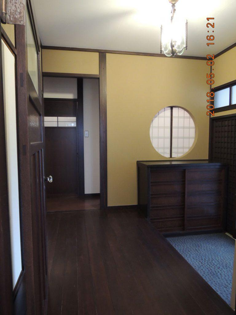 画像:既存玄関を再現